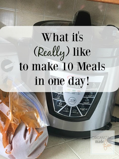 How to Make 10 (Pressure Cooker) Freezer Meals In A Day :: OrganizingMadeFun.com