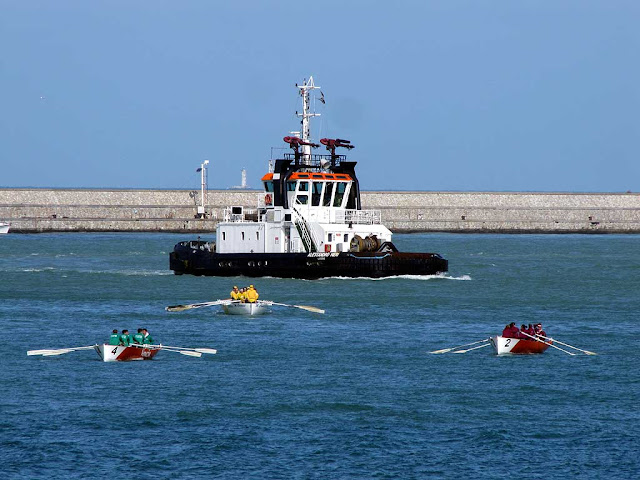 Alessandro Neri tugboat, IMO 9239305, crews warming up for the Trofeo D'Alesio 2012, Livorno