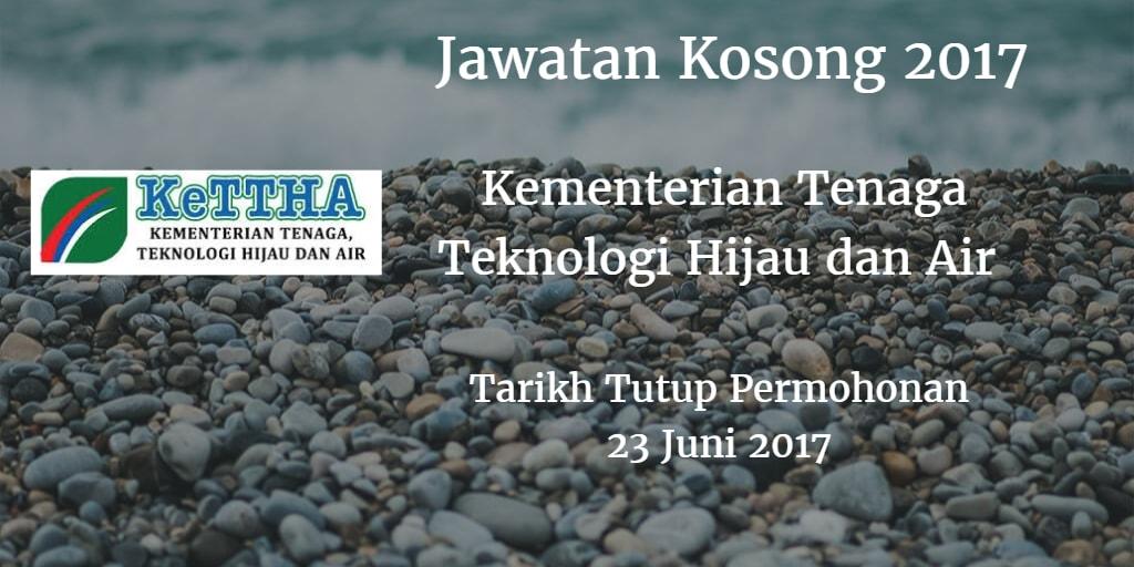 Jawatan Kosong KeTTHA 23 Juni 2017