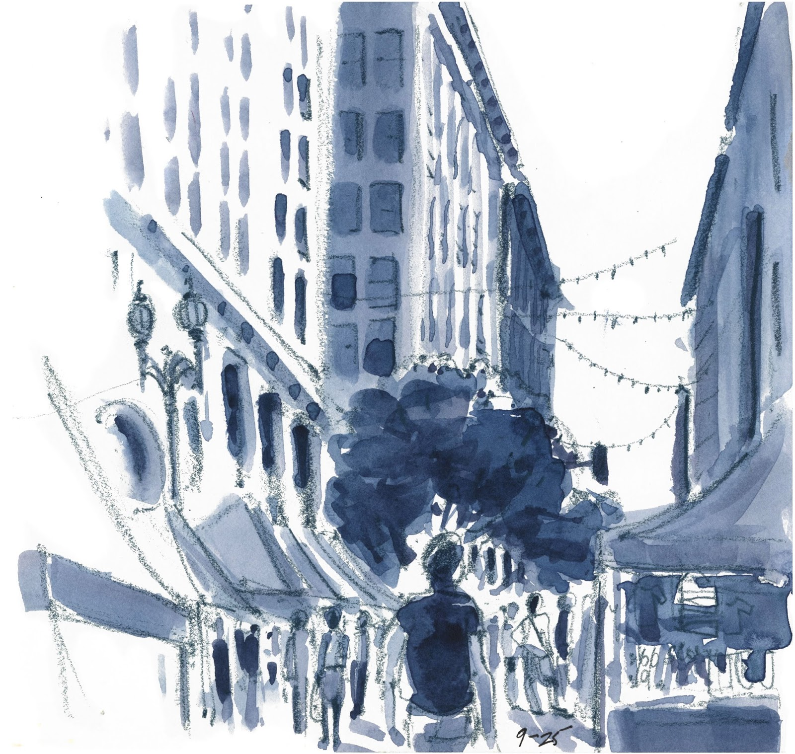Works In Progress On Location Sketching At The Los Angeles Plein