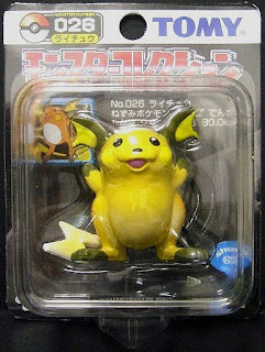 Raichu Pokemon figure Tomy Monster Collection black package series