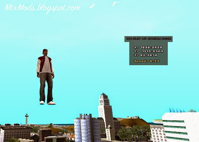gta sa mod cleo no clip noclip fly air break airbreak