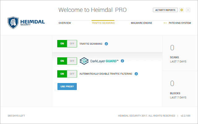 Heimdal PRO – Traffic Scanning