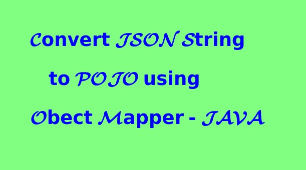 That Is My Attitude: How to convert JSON String to POJO using Object