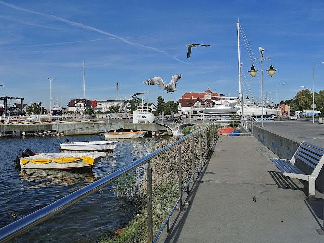 widok na port, Jastarnia, Polska, Morze Bałtyckie