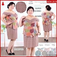 HNB226 Model Dress Salur Scuba Ukuran Besar Jumbo BMG Shop