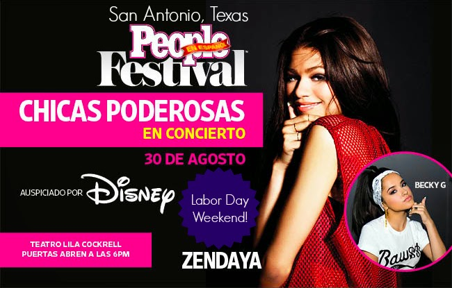 2014 People En Espanol Festival with Zendaya and Becky G in San Antonio, Texas