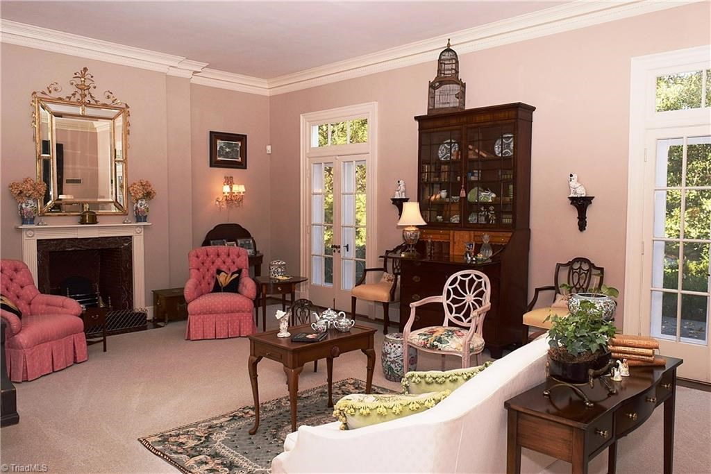 Note The Black Doors Leading Into The Parlor. They Complement The Entry  Doors And Are All Original Zenke.