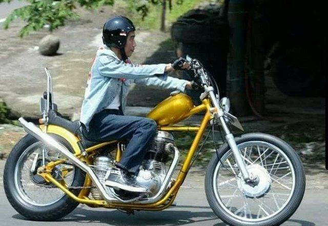 Uu Dan Peraturan Yang Dilanggar Dalam Modifikasi Motor Chopper Jokowi Portal Islam
