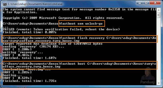 Perintah Install TWRP