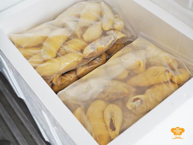 Frozen Durian For Export at Durian Wonderland