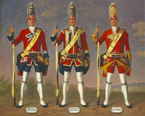 7th Royal Fusiliers, 8th King's and 9th Regiments of Foot, Grenadiers, 1751