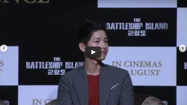 Descendants Of The Sun star Song Joong Ki in town to promote latest movie The Battleship Island