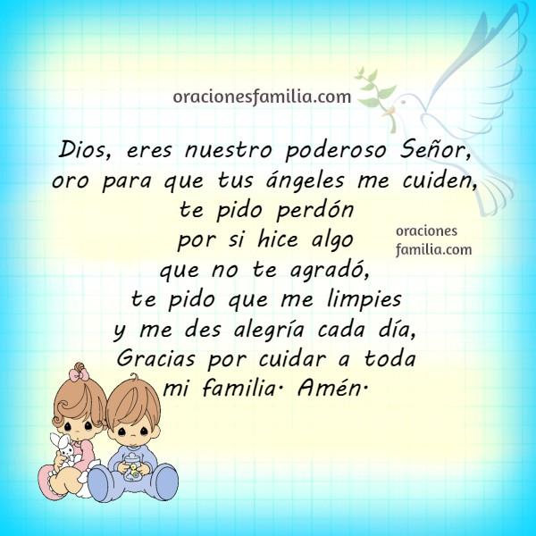Oraciones cortas para los niños, hijos, nietos, sobrinos pequeños. Plegarias de los niños a Dios. Por Mery Bracho