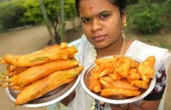 Chilli and Potato Bajji Recipe cooking in My Village | VILLAGE FOOD