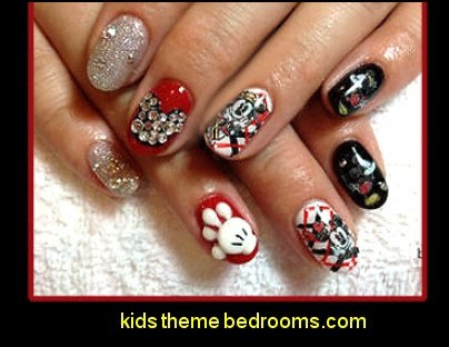 Decorating Theme Bedrooms Maries Manor Mickey Mouse Themed Nails Disney Themed Nail Designs