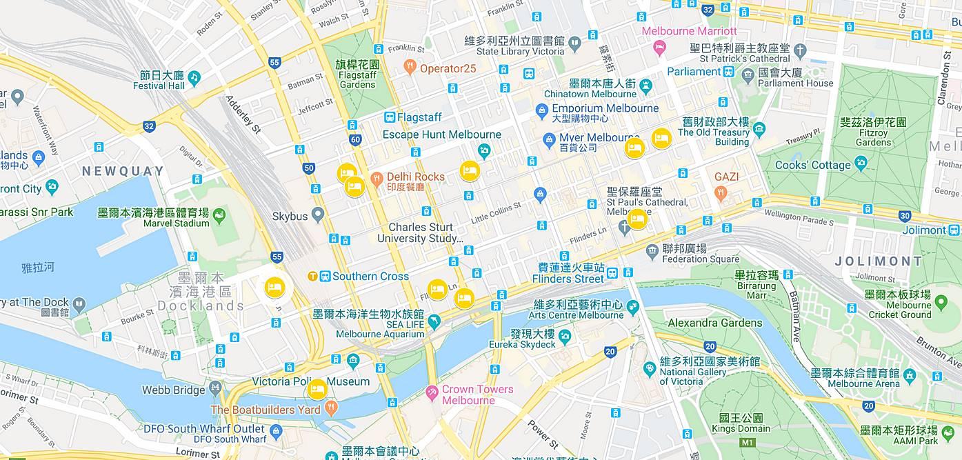 墨爾本-住宿-推薦-地圖-MAP-墨爾本飯店-墨爾本酒店-墨爾本公寓-墨爾本民宿-墨爾本旅館-墨爾本酒店-必住-Melbourne-Hotel