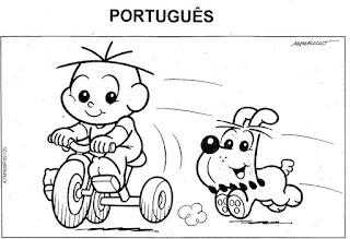 Capa caderno de português