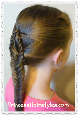 Suspended Fishtail Braid Hairstyle Video Tutorial