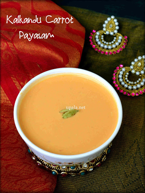 Kalkandu Carrot Payasam/Carrot kheer using rock candy