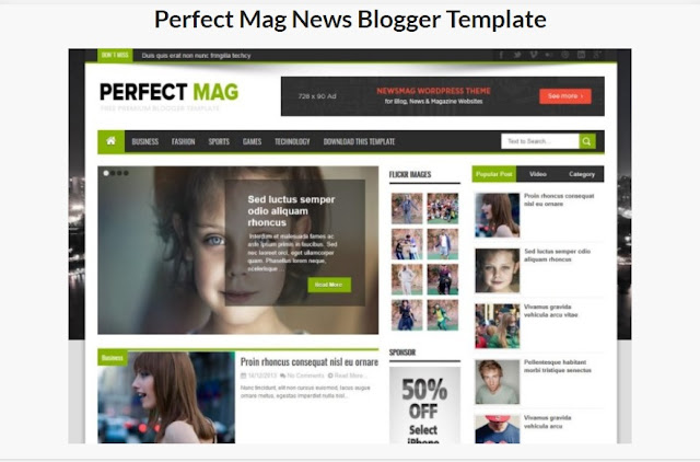 Perfect Mag News Blogger Template