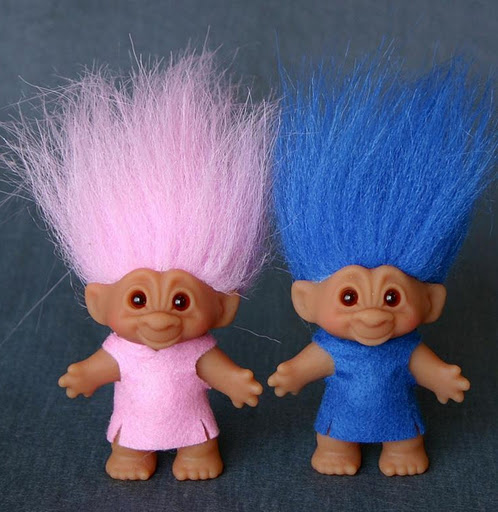 Troll dolls from the 70s.