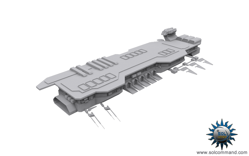 Kline carrier space ship combat ship futuristic warcraft combat barragan shipyard fleet fighters planet defense wing 3d model somcommand original concept art