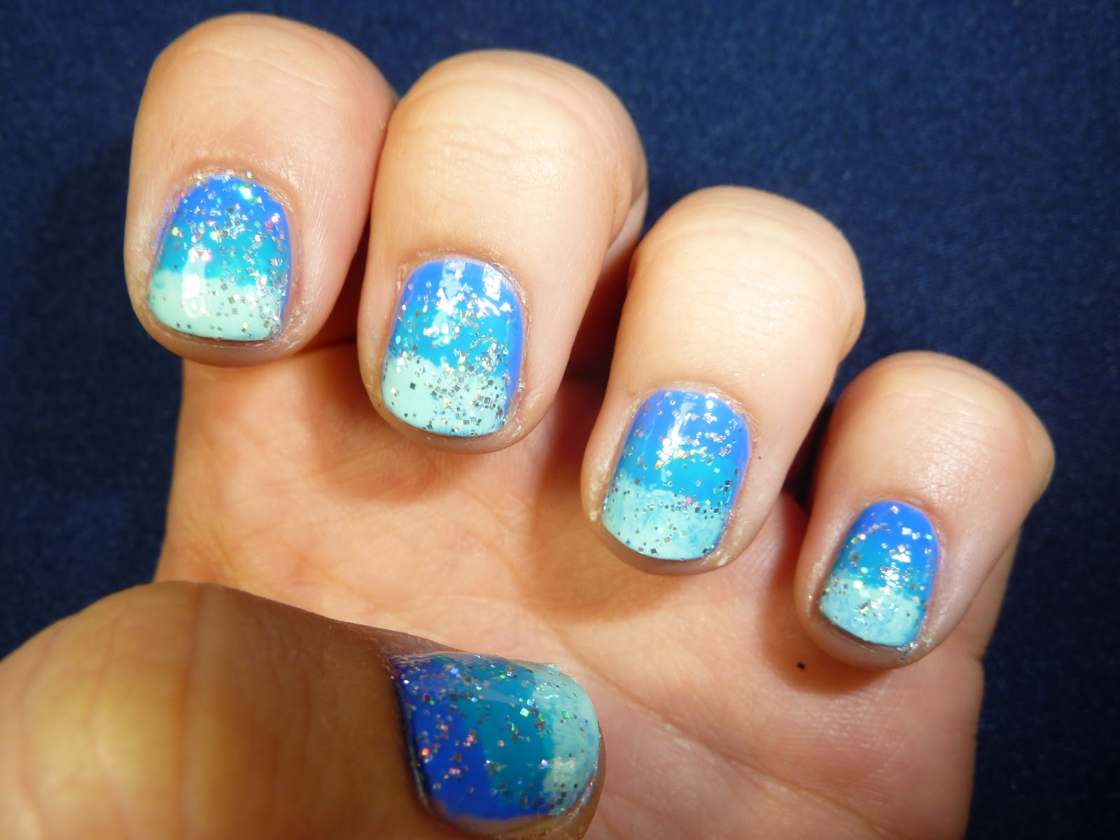 Blue Ombre Nails For Summer Easy Nail Tutorial Starryeyedglamour