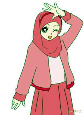 kartun muslimah lucu gambar kartun islami
