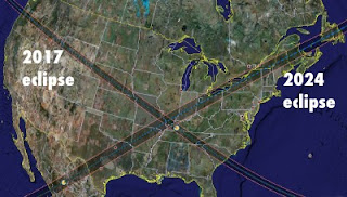 2017 To 2024 Demarcated By Two Total Solar Eclipses