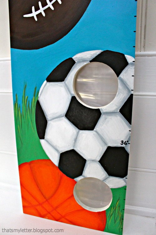 diy sports themed growth chart