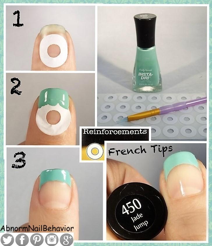 Abnorm Nail Behavior Nail Art French Tips Stickerband Aid Hack