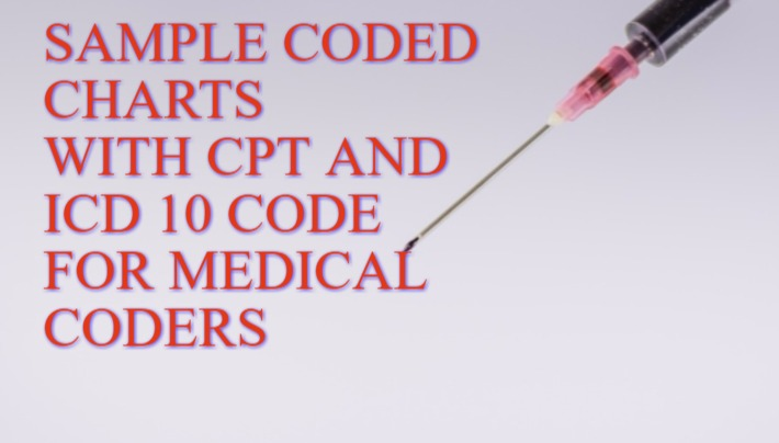 Sample Coded Medical Coding Charts for Practice