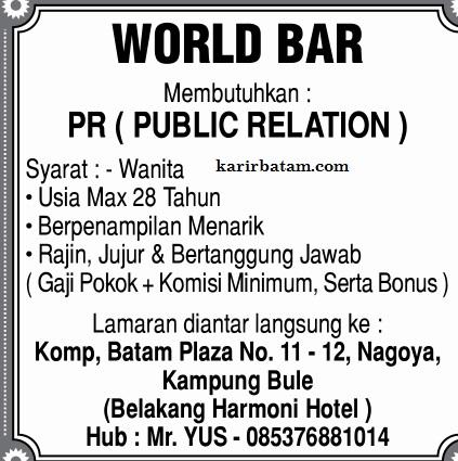 Lowongan Kerja World Bar