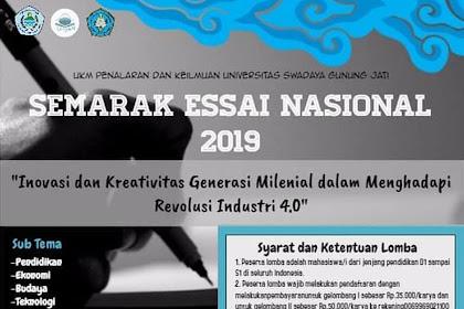 Lomba Semarak Essay Nasional 2019 Mahasiswa Terbaru
