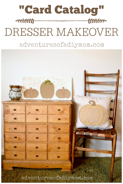 """card catalog"" dresser makeover"