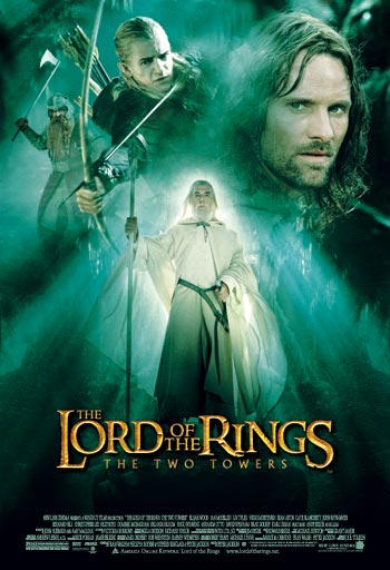 Poster Of The Lord of the Rings 2 (2002) Extended 720p Hindi BRRip Dual Audio