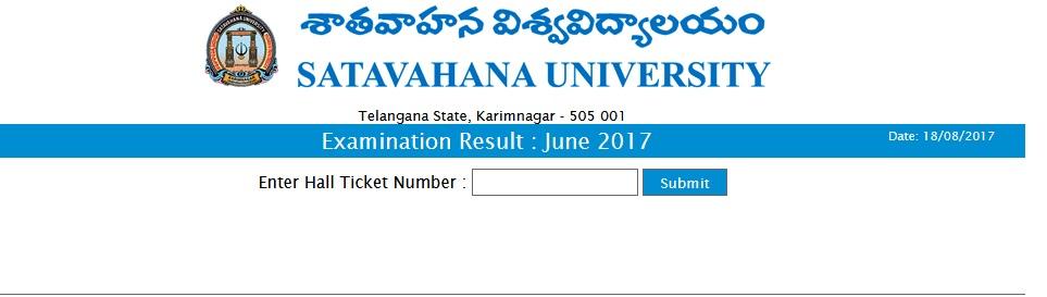 Satavahana University BP.Ed 3rd / 4th Sem Exam Results 2017