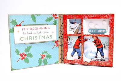 Snowy Window Mini Printer Tray Christmas Card by Dana Tatar for Tando Creative