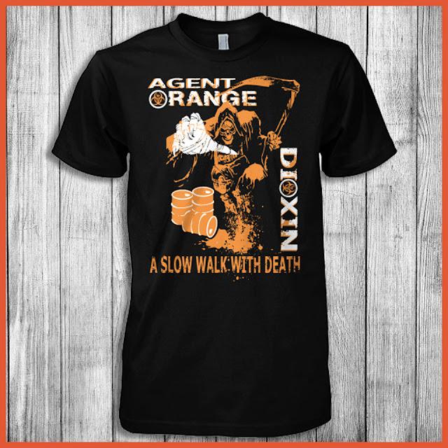 Agent Orange Dioxin A Slow Walk With Death T-Shirt