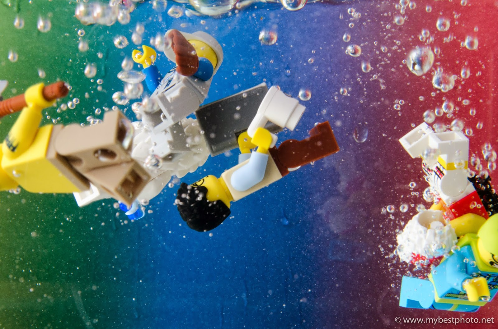 Lego Minifigure Pool Party