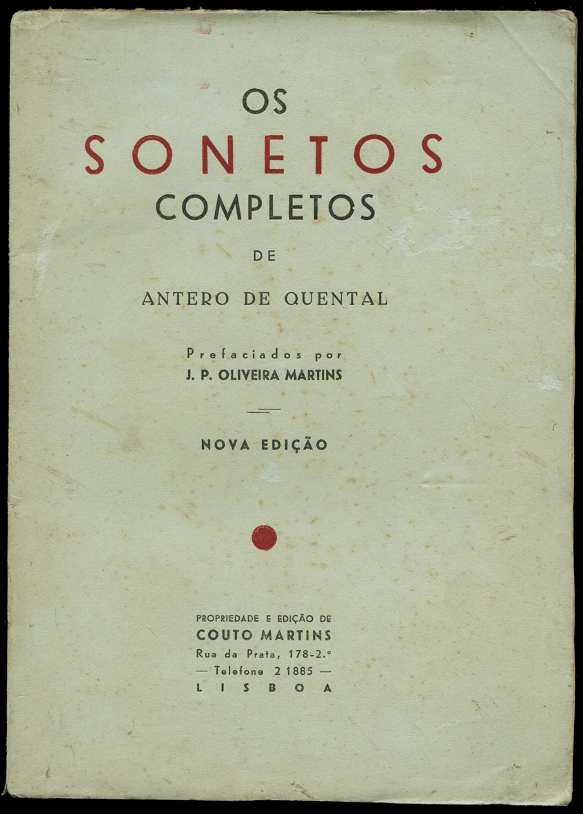 Os Sonetos Completos. ANTERO DE QUENTAL