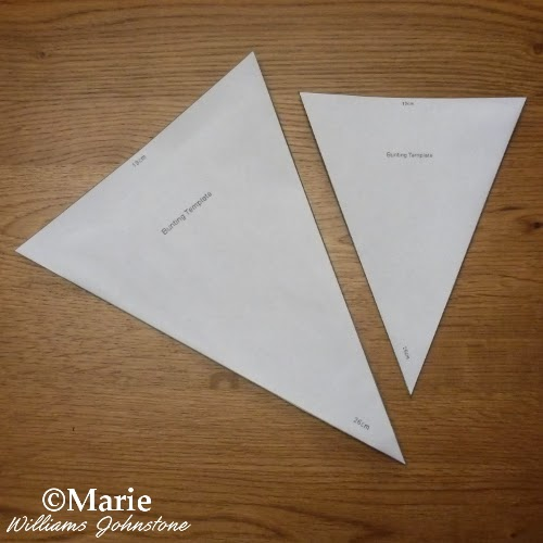 Pennant banner bunting triangle templates