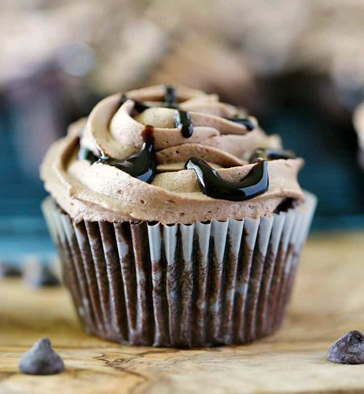 Death by Chocolate Cupcakes #cupcakesrecipes