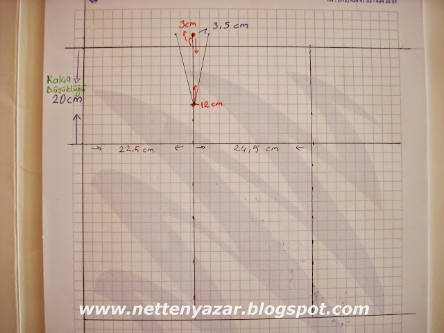 basic narrow skirt pattern Drawing