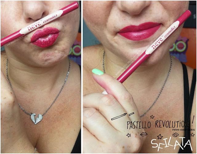 sfilata applicazione makeup BioPastello labbra Neve Cosmetics  pastello revolution