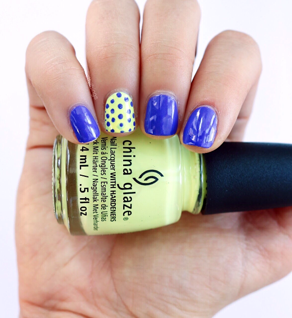 Wearing China Glaze Whip It Good, China Glaze I Got a Blue Attitude - Tori's Pretty Things Blog