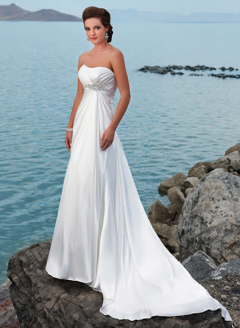chic and awesome strapless wedding dresses