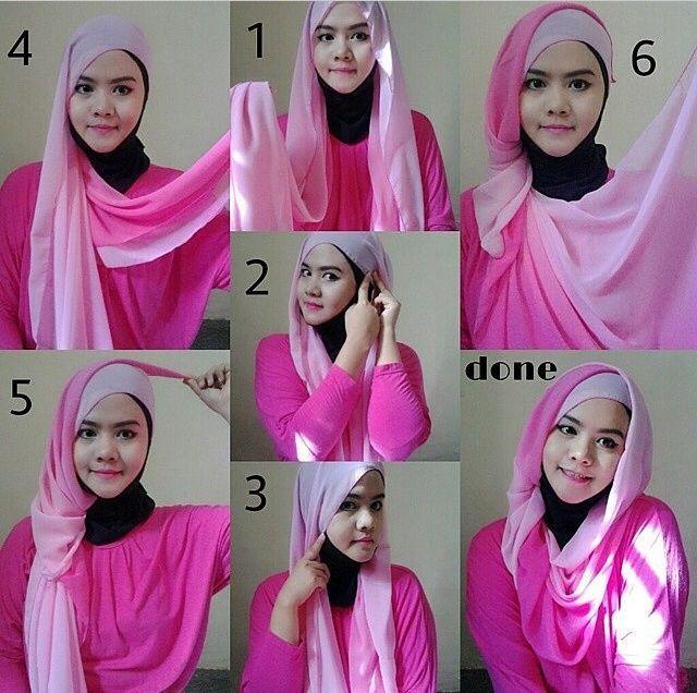 tutorial hijab pashmina velvet