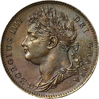 British Coins Farthing 1823 King George IV